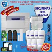 PYRONIX ENFORCER WIRELESS HOME ALARM SYSTEMS,  DIGI WIFI